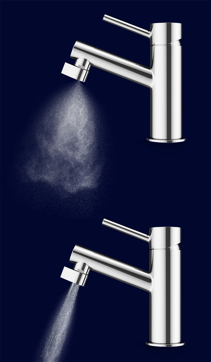 Same tap. 98% less water. The Altered:Nozzle is the worlds most extreme water saving nozzle. It installs easily into your existing tap. By atomizing water we can use 98% less water and still retain full functionality. And if you need a little more, then you switch to our regular saving mode. Still 75% savings, but all the water you need.