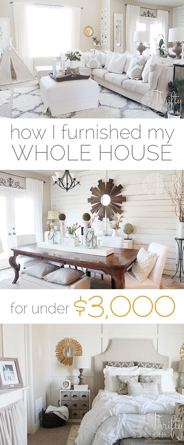 How I Furnished My House For Under $3000
