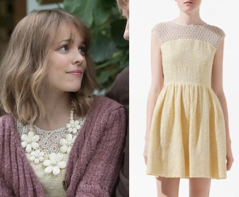 Rachel About Time Mary Yellow Lace Combination Dress Zara About Time Movie Fashion: Go Inside Rachel McAdams Vintage, Modern Closet
