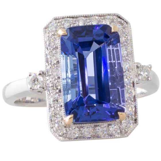 Tanzanite and Diamond Ring. Shop December's birthstone online now at www.rutherford.com.au