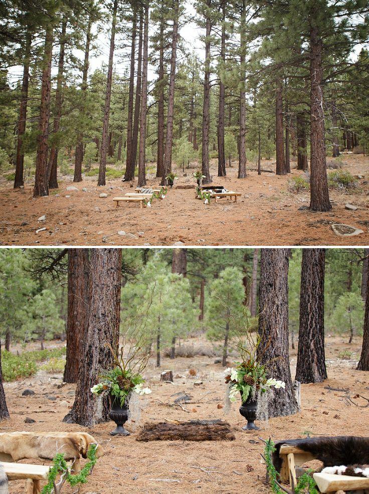 royal woodland inspired winter wedding
