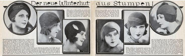 """""""....... Und heute kann jede Frau, ob alt , ob jung mit einem Hut aus einer Stumpe gut aussehen, den sie selbst ohne viel Mühe, nur mit etwas Geschick zurechtmacht. Es kommt lediglich auf etwas Mut..."""