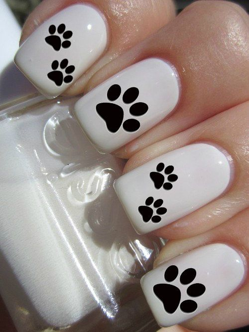 Puppy Paw Print Nail Decals by PineGalaxy on Etsy