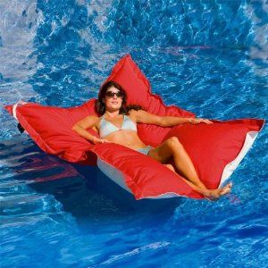 A Huge Pool Float Almost Better Than Bed