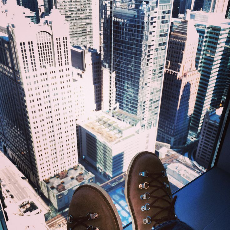 Skyscraper climbing in my Danner boots