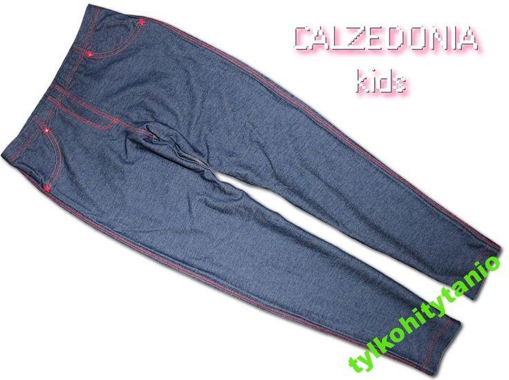 CALZEDONIA spodnie jegginsy gwiazdki 7/8 lat NOWE