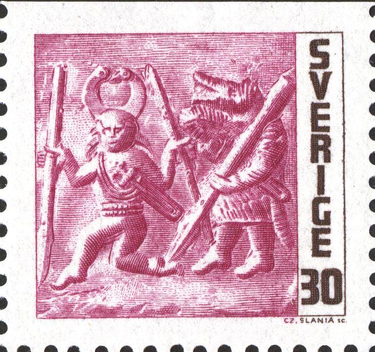 "Sweden 30ö ""Vendel period bronze plates"" 1967 Czeslaw Slania sc."