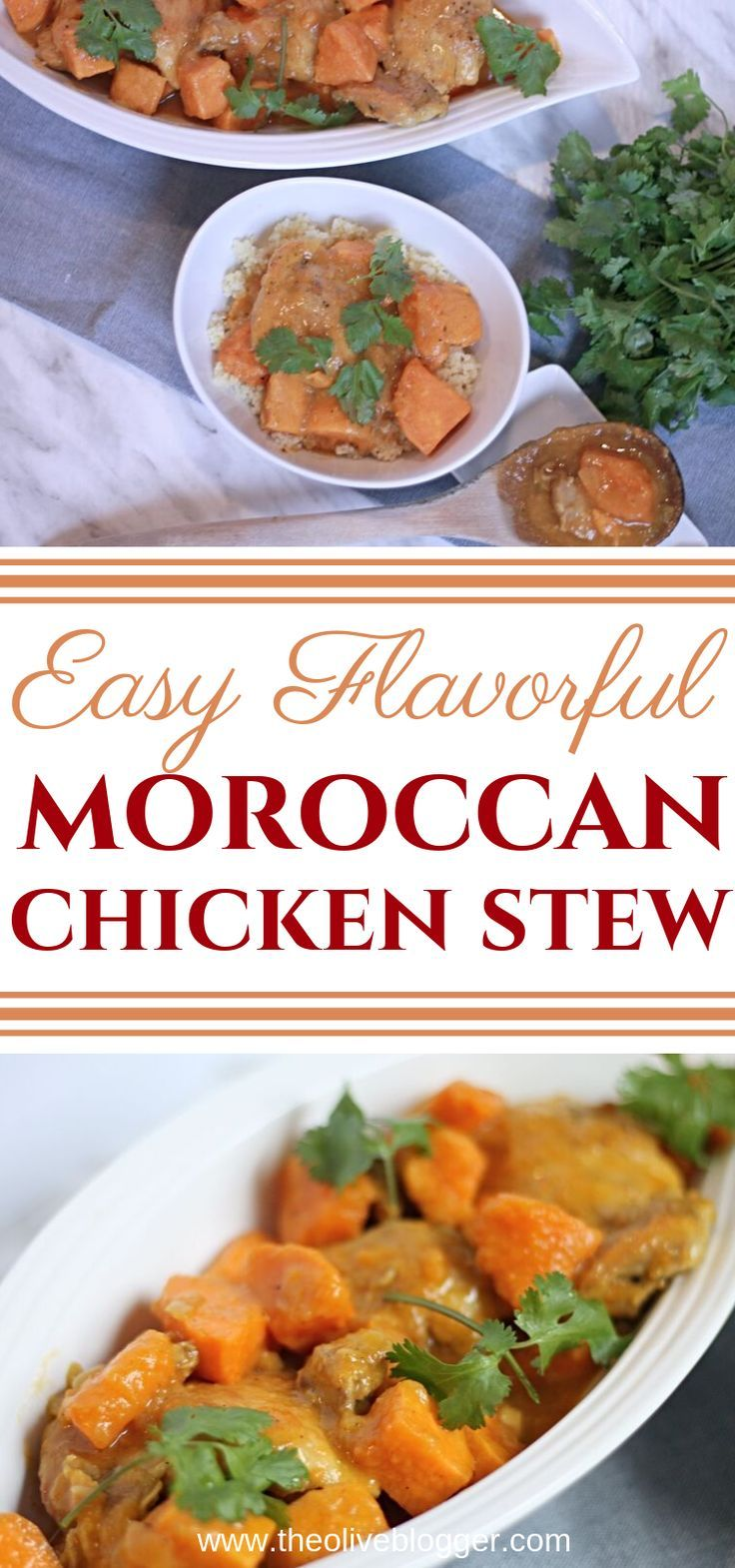 Easy Moroccan Chicken Stew with Sweet Potatoes and Couscous