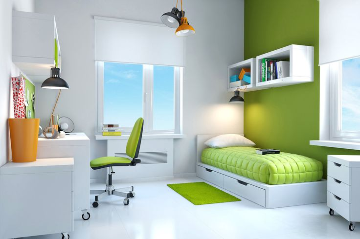 Green can bring about a sense of calm and wellbeing, which makes it the perfect colour for bedrooms!  |   http://www.carpetcall.com.au/blog/8-colour-meanings-to-help-you-choose-the-perfect-rug/