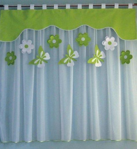 Vorhang Set Fensterdeko Kinderzimmer Motiv grün 140 - 180cm Handarbeit. Kinder