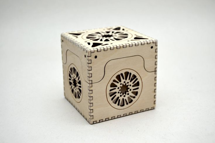 Sun Box - Laser Cut Plywood Box by CedarStreetDesign on Etsy