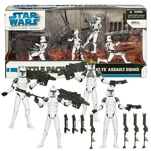 Star Wars AT-TE Assault Squad Action Figures Battle Pack