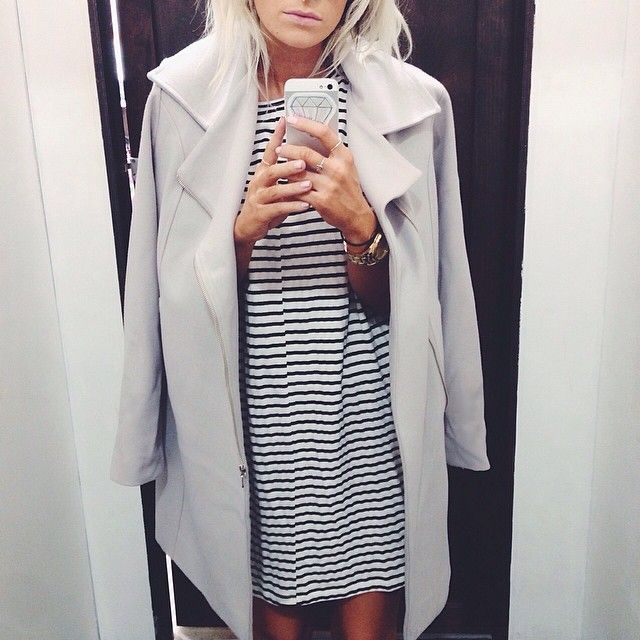 ❄️new #viktoriaandwoods optimus coat in chrome and #mlmlabel stripe mini! ❄️ email to purchase ❄️