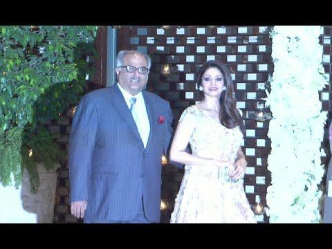Sridevi & Boney Kapoor at Harbhajan Singh's wedding party at Ambani's house.
