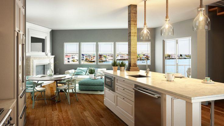Render Cocina Interior - EVA3D