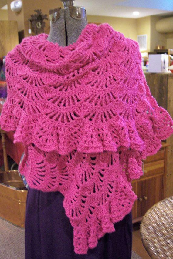 Crocheting Prayer Shawls : Crochet Prayer Shawl by hendersonmemories on Etsy, $110.00