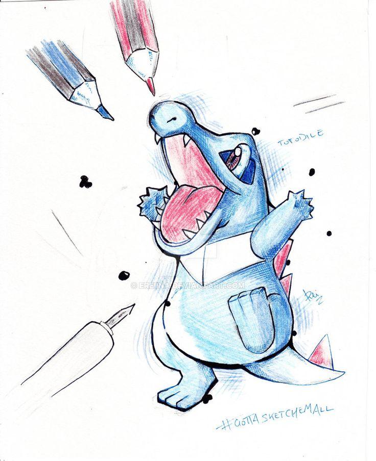 Totodile - Pokemon by eREIina.deviantart.com on @DeviantArt