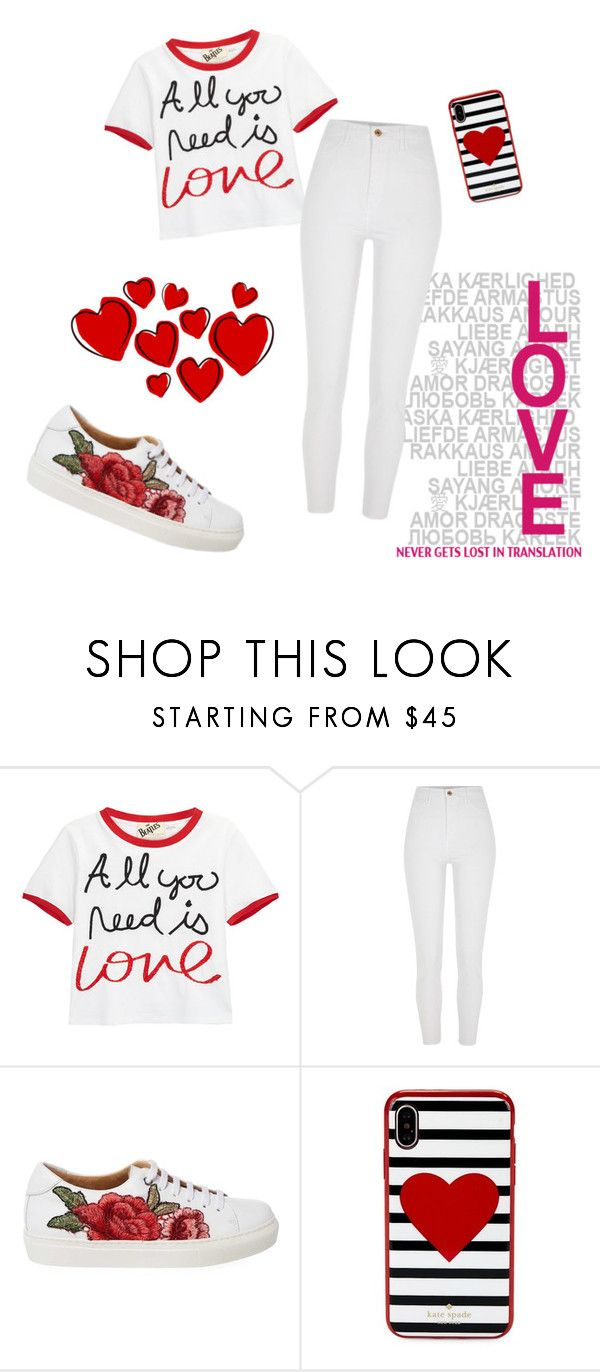 """Love Eachother"" by blue-sierra ❤ liked on Polyvore featuring Alice + Olivia, River Island and Kate Spade"