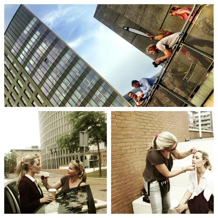 Visagie en Styling voor Exact met fotograaf Frank van Delft