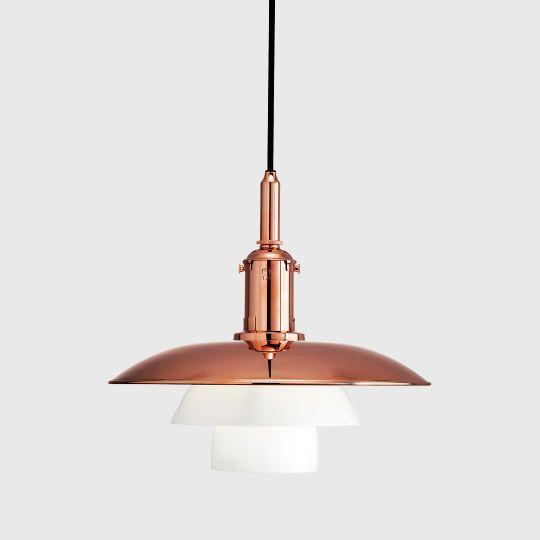 PH 3 ½–3 copper and glass pendant - limited edition Poul Hennigsen