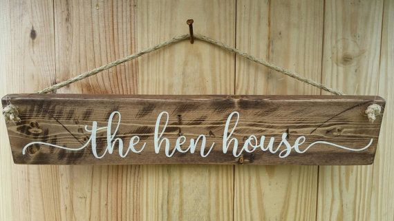 This chicken coop sign that says the hen house is the perfect accent to add to your coop.  Check it out at http://libertyislandfarm.etsy.com or repin to view later.