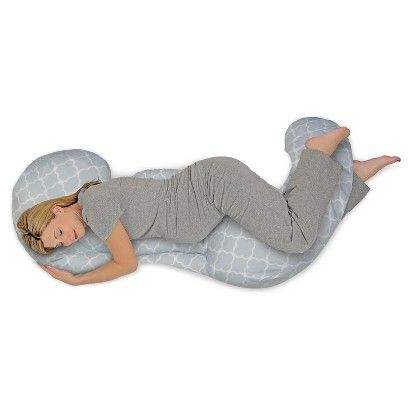 The newly-designed Boppy Total Body Pillow was developed with a physical therapist to provide customized support throughout your pregnancy. The flexible, three-piece design means you can use the combination that works best for you. Choose from: Head/Neck Support, Belly/Back Support, and Hip/Leg/Ankle Support. Extended length design provides support all the way down to your ankles, alleviating strain on hips. Machine washable for easy care.