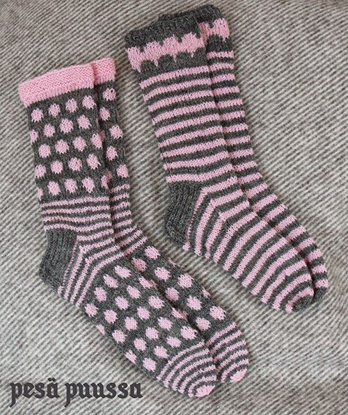 2 x knitted socks