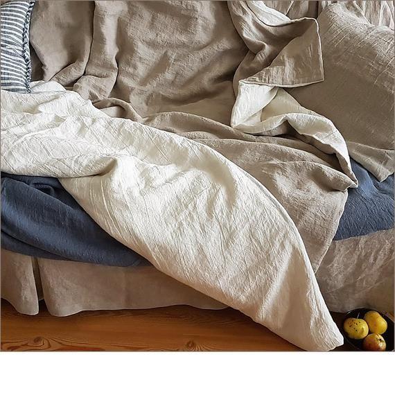 Reversible Linen Duvet Cover Washed Linen Quilt Cover Doona Etsy California King Duvet Cover Linen Duvet Covers Linen Duvet