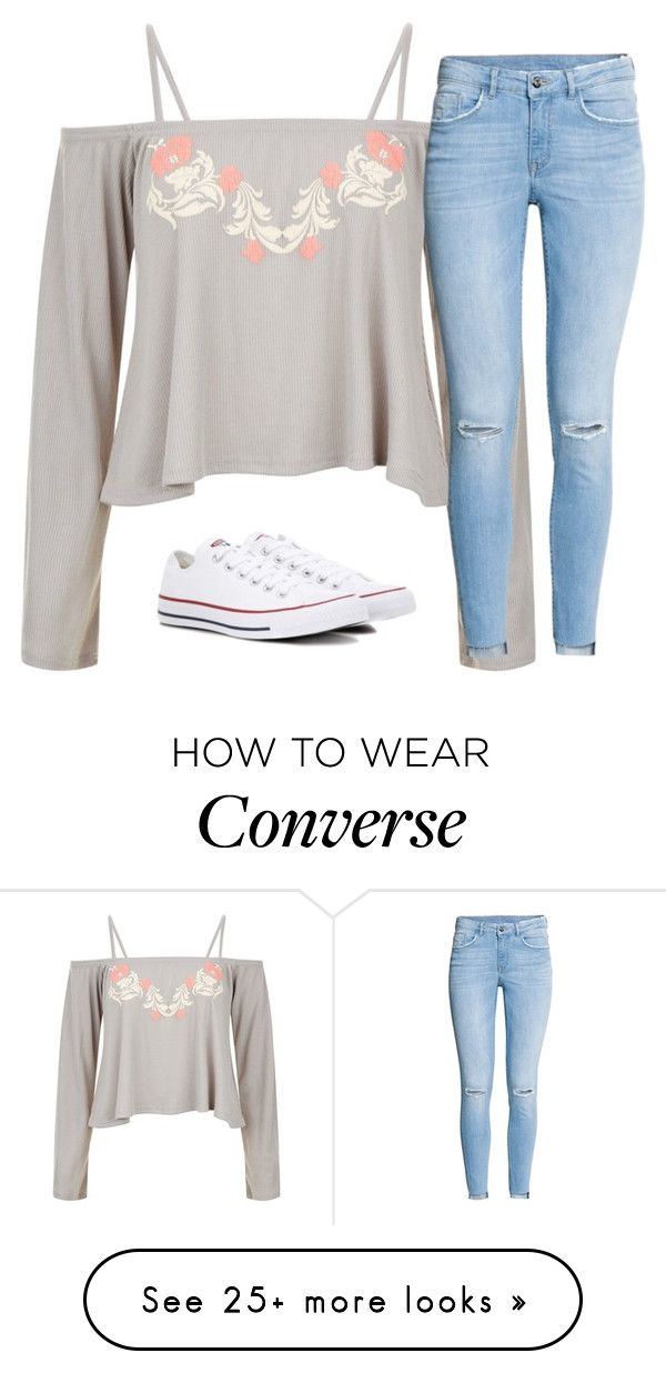 """""""Untitled #2676"""" by laurenatria11 on Polyvore featuring H&M and Converse"""