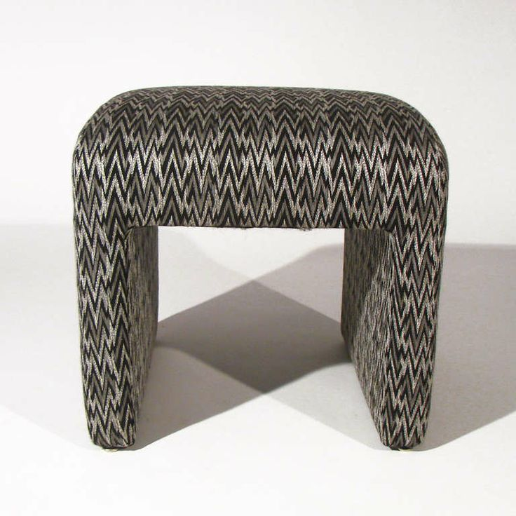 Chevron Stools For Directional | From a unique collection of antique and modern footstools at http://www.1stdibs.com/furniture/seating/footstools/