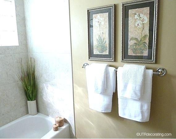 Hand Towel Display For Guest Bath For The Home Pinterest Bathroom Hand Towels Display Bathroom Towel Decor Hand Towels Bathroom
