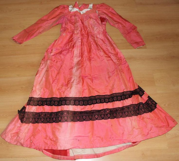 старинное платье из тафты на запчасти