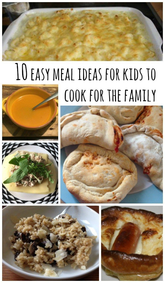 27 best teach kids to cook images on pinterest cooking with kids 10 easy meal ideas for kids to cook for the family forumfinder Choice Image