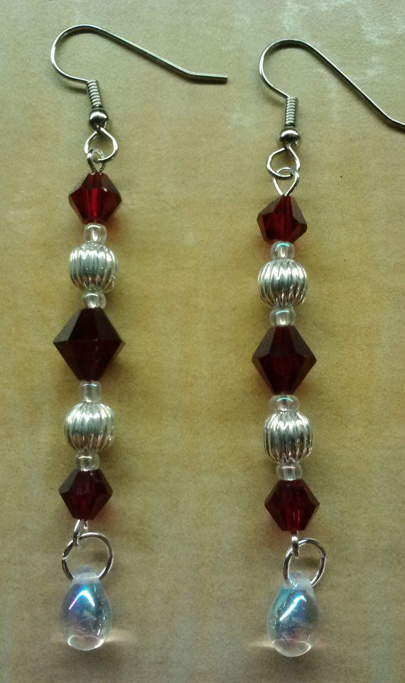 Beaded Earrings Handmade Earrings Beadwork by KimsSimpleTreasures, $8.00