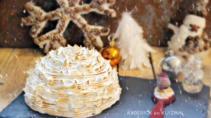 Dôme bûche de Noël chocolat blanc et insert framboise