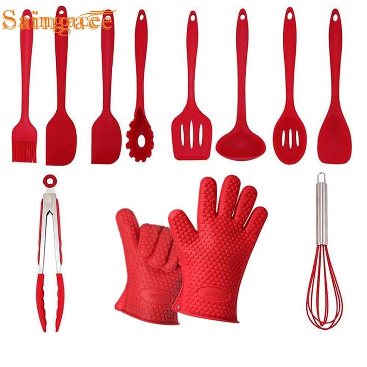Silicone Kitchen Cooking Utensils Set of 11 Pieces Premium Heat Resistant and Non-Stick Kitchen Baking Tools Cuisine Couverts !1