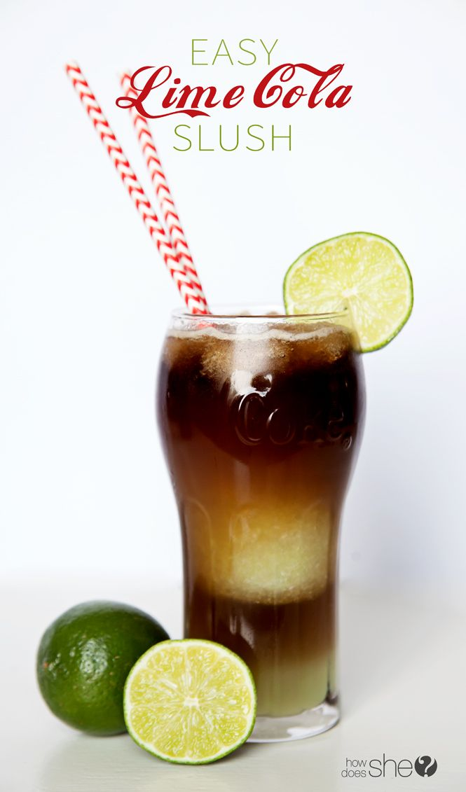 Easy Lime Cola Slush Recipe (Dirty Coke)