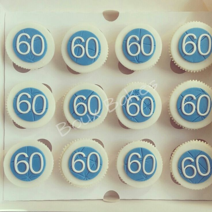 60th Birthday Cupcakes In 2019 60th Birthday Cupcakes