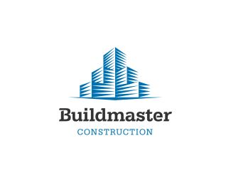 buildmaster logo design solid and eye catching mark for