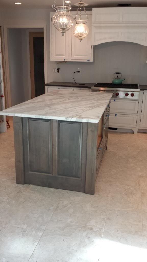 Image result for grey stained oak cabinets  House in 2019