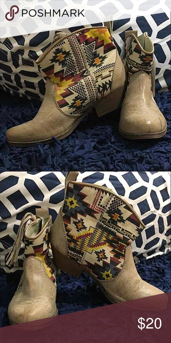 Big Buddha booties Worn once/ slight dent on point of right boot from storage Big Buddha Shoes Ankle Boots & Booties