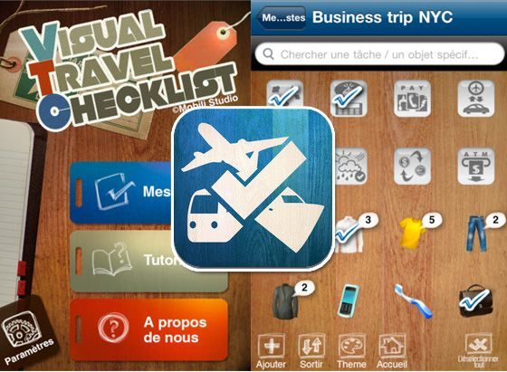 Visual Travel Checklist: the perfect app to plan a trip l #iphone #ipad