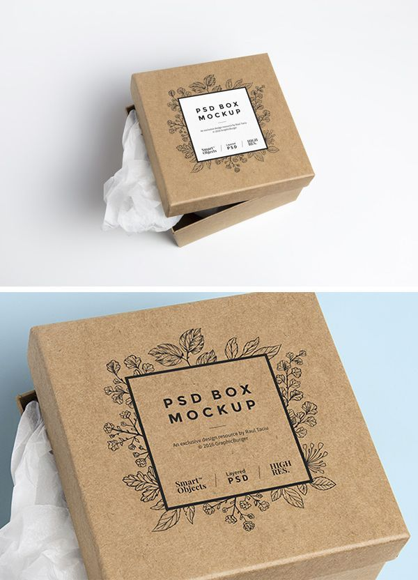 I'm happy to share with you today a mock-up of a square cardboard box, perfect for creating a flawless presentation...