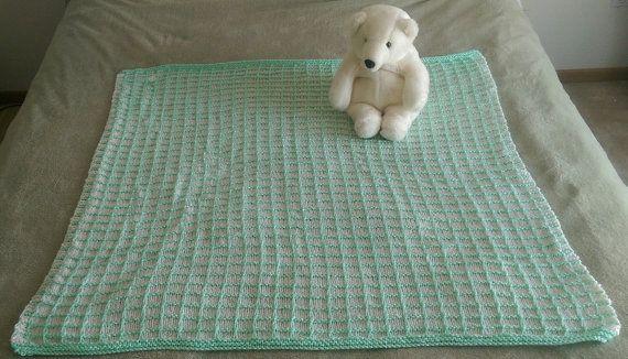 Knit Baby Blanket Heirloom Handmade Afghan by SensationalYarn