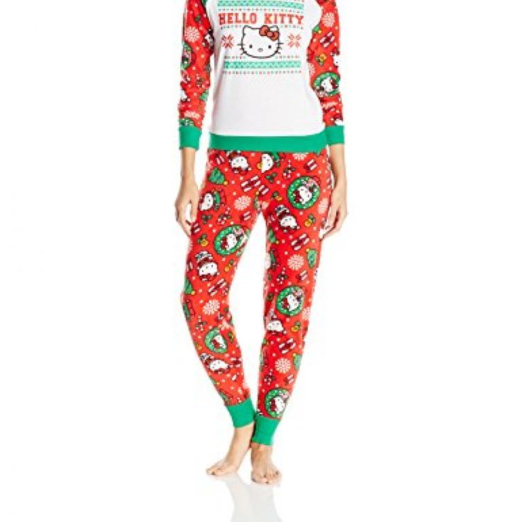 Hello Kitty Women's Ugly Holiday Pajama Set, Crimson, X-Large //Price: $ & FREE Shipping //     #hellokitty World of Hello Kitty https://worldofhellokitty.com/product/hello-kitty-womens-ugly-holiday-pajama-set-crimson-x-large/