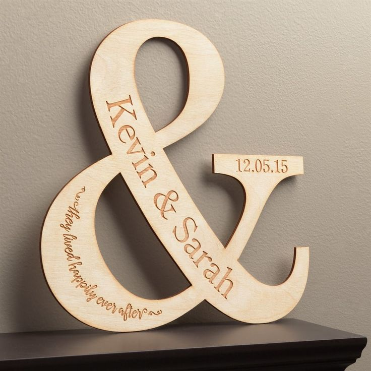 Personalized Happy Couple Wood Plaque