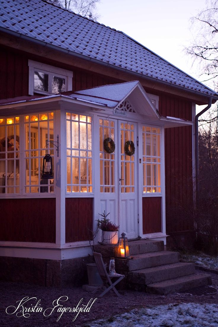 I mitt paradis: the glass veranda, an early morning in december