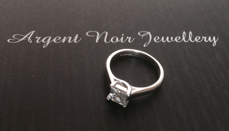 Sterling silver and square CZ ring. Prices from £75