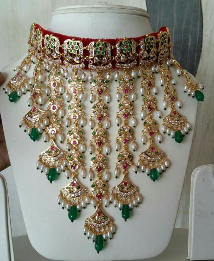 Bridal neckles made by Dulhan Jewellers Pali Call 9828283403
