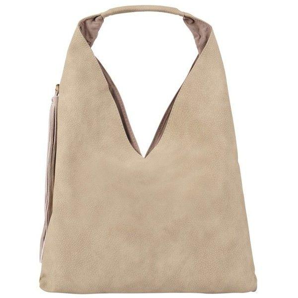 INZI Pebbled Fringe Hobo ($89) ❤ liked on Polyvore featuring bags, handbags, shoulder bags, oatmeal, pink handbags, tassel purse, fringe purse, pouch purse and pink shoulder bag